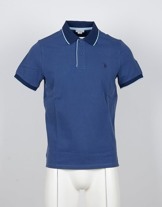 U.S. Polo Assn. Blue Cotton Men's Polo Shirt