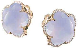 Pasquale Bruni 18K Rose Gold Bon Ton Blue Chalcedony & Diamond Floral Earrings