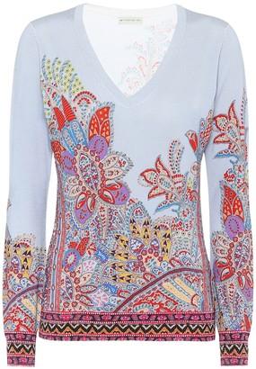 Etro Paisley silk-blend sweater