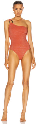 Solid & Striped Juliana Swimsuit in Apricot Lurex | FWRD