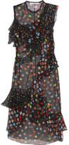 Givenchy Ruffled Polka-dot Silk-chiffon Dress - Black