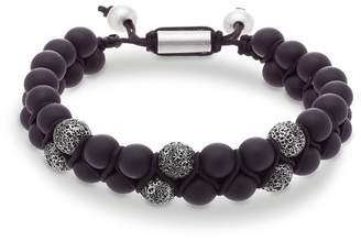 Steve Madden Textured Bead Double Strand Slide Bracelet