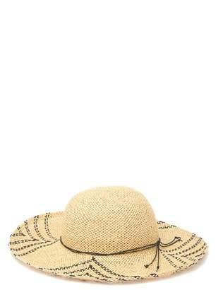 SAN DIEGO HAT Woven Paper Pattern Brim Floppy Hat