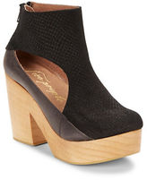 Free People Horizon Leather Platform Ankle Boots