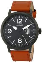 August Steiner Men's Analog Display Japanese Quartz Brown Watch