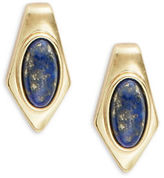 House Of Harlow Blue Lapis Stone Pierced Earrings