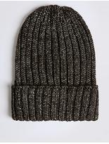 M&S Collection Metallic Beanie Hat
