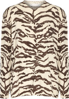 Stella McCartney Paneled animal-print wool sweater