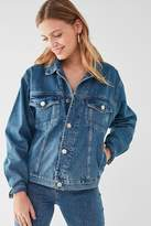 Urban Outfitters Spliced Denim Trucker Jacket