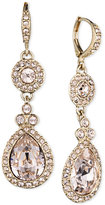 Givenchy Gold-Tone Crystal and Pavé Double Drop Earrings