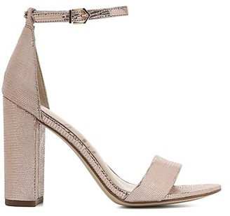 Sam Edelman Yaro Ankle-Strap Metallic Leather Sandals