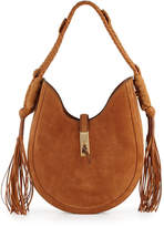 Altuzarra Ghianda Small Leather Hobo Bag, Teak