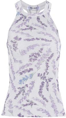 Max Mara Harem floral-print racerback top
