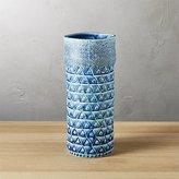 CB2 Madison Blue Vase