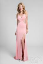 Terani Prom - Stunning Sleeveless V-Neck Polyester Column Gown1712P2484
