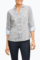 Foxcroft Tile Print Shirt