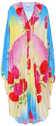 Vetements Floral pleated midi dress