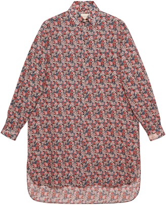 Gucci Liberty floral wool oversize shirt