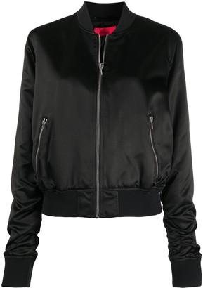 HUGO BOSS Logo Embroidered Bomber Jacket