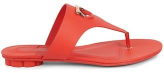 Salvatore Ferragamo Enfola Leather Toe-Thong Sandals