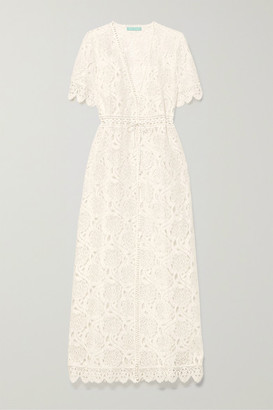 Melissa Odabash Gabrielle Cotton-blend Corded Lace Dress - Cream
