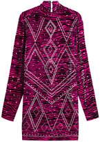 Just Cavalli Embellished Animal Print Velvet Dress