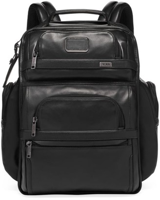 Tumi Alpha Leather Compact Laptop Brief Pack