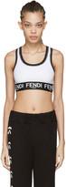 Fendi White Logo Sports Bra