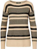 Ralph Lauren Petite Striped Linen-Cotton Sweater
