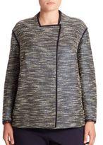 Lafayette 148 New York, Plus Size Dane Alta Reed Cloth Jacket