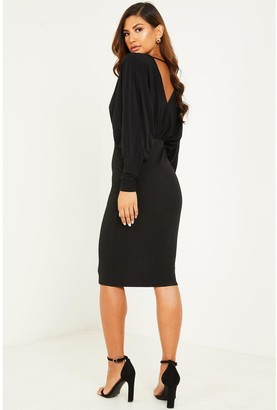 Quiz ITY WrapBodycon Dress - Black