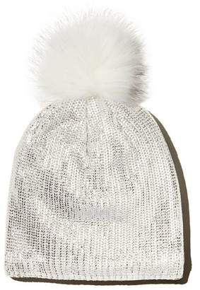 Rockets of Awesome Girls' Metallic Pom-Pom Beanie - Little Kid, Big Kid