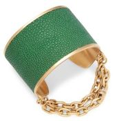 Paige Novick Natalie Stingray Leather Chain Cuff Bracelet