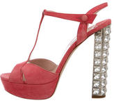 Miu Miu T-Strap Platform Sandals