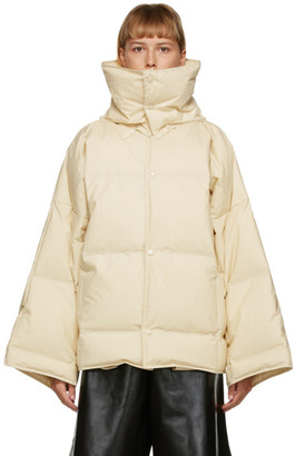 Bottega Veneta Off-White Down Puffer Coat