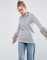 Asos Sweater with Fur Sleeve