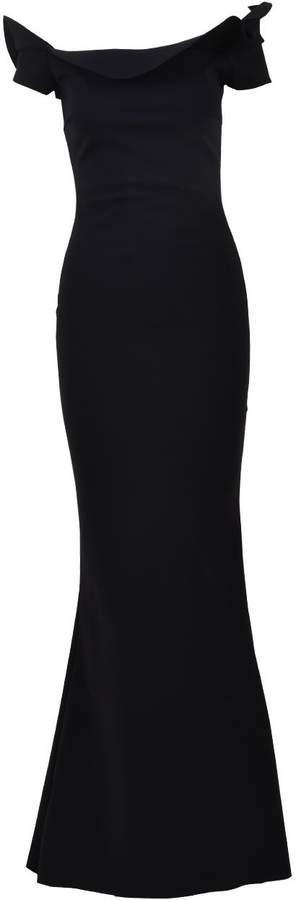 Chiara Boni La Petit Robe Di Zaina Long Gown Black