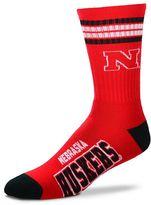 For Bare Feet Men's Nebraska Cornhuskers Deuce Striped Crew Socks