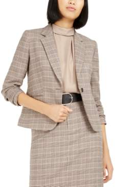 Bar III One-Button Plaid Blazer, Created For Macy's