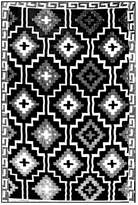 Monochrome Lhasa Reversible Rug Rug