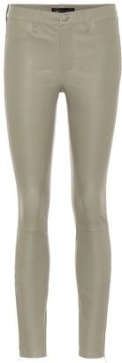 J Brand L8001 mid-rise leather pants