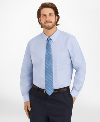 Brooks Brothers Big & Tall Dress Shirt, Non-Iron Point Collar
