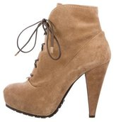 Proenza Schouler Suede Lace-Up Ankle Boots