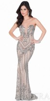 Terani Couture Illusion Sweetheart Beaded Evening Gown