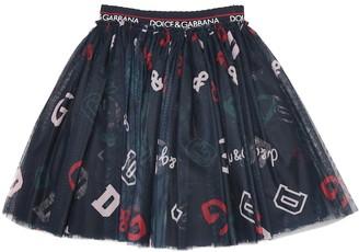 Dolce & Gabbana Kids Printed tulle skirt