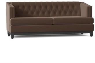 "My Chic Nest Ali 88"" Recessed Arms Sofa Body Fabric: Bella Brown Sugar"