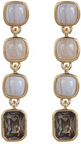 Cole Haan 12K Gold Plated Semi-Precious Stone Linear Drop Earrings