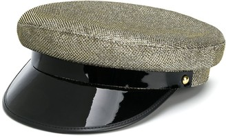 Manokhi Metallic Threaded Baker Boy Hat