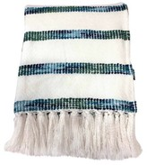 Threshold Striped Throw Blanket - White/Blue