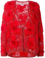Brunello Cucinelli textured cardigan - women - Silk/Linen/Flax/Acrylic/Virgin Wool - S